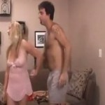 Stepmom Brings Her Stepson to Bedroom For Fuck