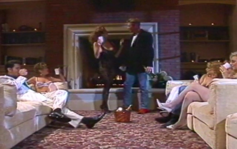 """Celeste with everybody from """"Hollywood Scandal"""" 1993 scene 5 [Watch Online]"""