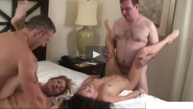 Stepfamily Foursome Dad Mom Sister and Son