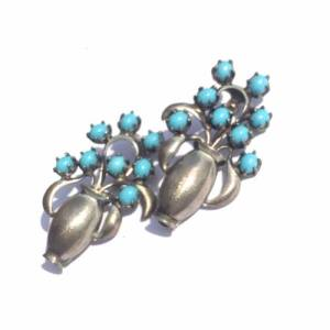 silver and turquoise vintage estate jewelry