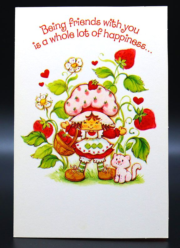 Another Adorable Vintage Strawberry Shortcake Card Of Course Lol Vintage Shortcake Ephemera