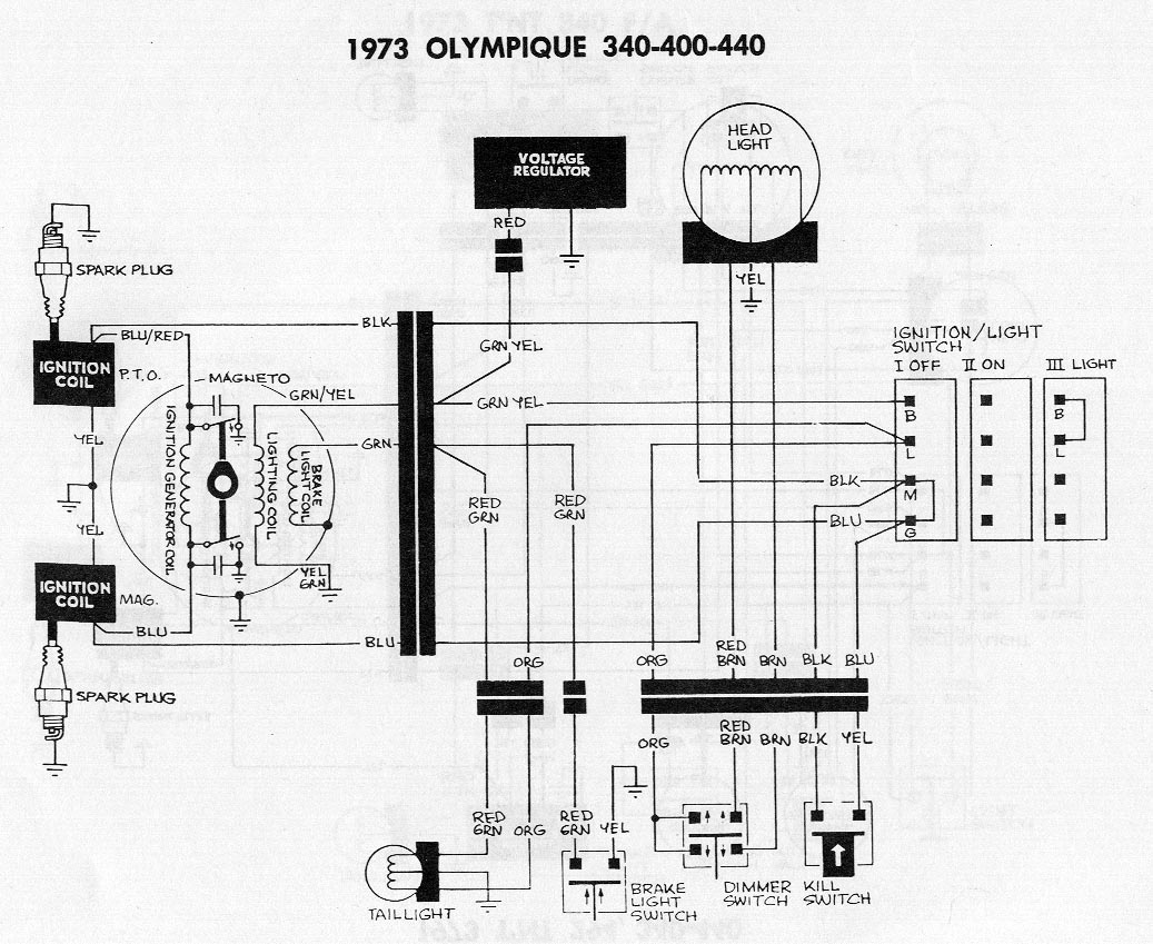 old snowmobile wiring diagrams