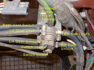 Door Lock (vacuum) Relay  CORRECTED  Vintage Thunderbird