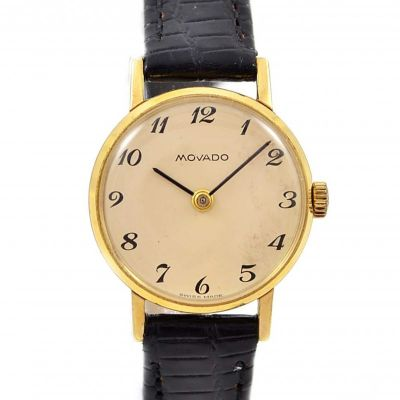 Vintage Movado Gold Plated Hand Winding Ladies Watch