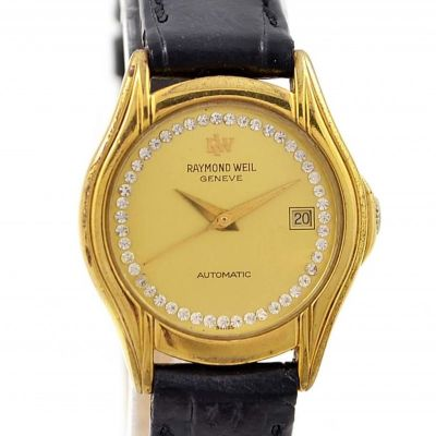 Vintage Raymond Weil Automatic 18kt Gold Plated Ladies Petite Watch