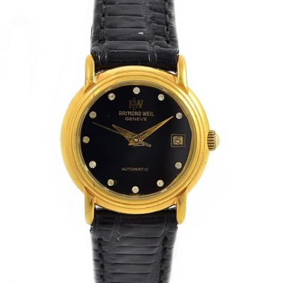 Vintage Raymond Weil 18kt Gold Plated Automatic Ladies Petite Watch