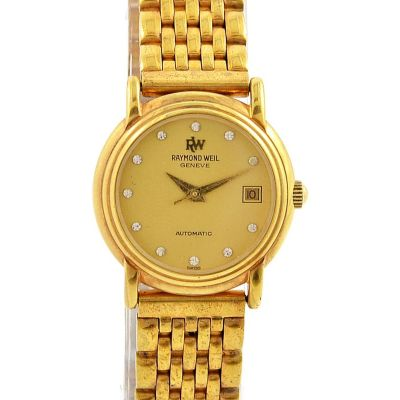 Raymond Weil Geneve Date Gold plated Automatic Ladies Watch
