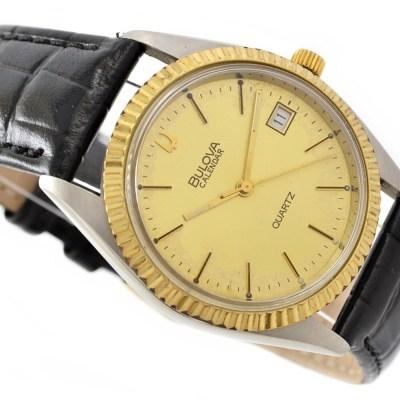vintage rare retro bulova quartz watch