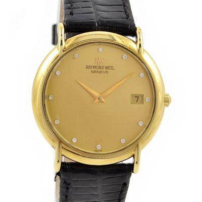 Pre-Owned Raymond Weil Geneve Date Quartz Midsize Watch 9140