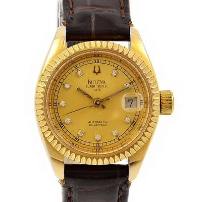 Pre-Owned Bulova Super Seville Calendar Automatic Ladies Watch 31252