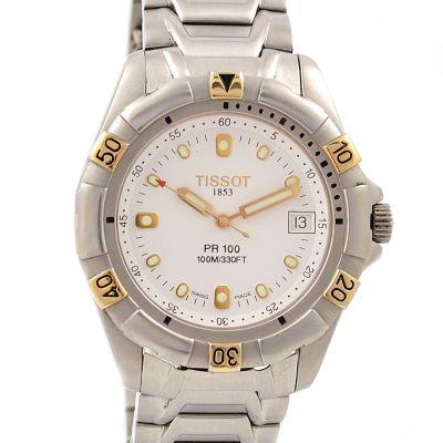 Pre-Owned Tissot 1853 Pr100 Date 100/300ft Quartz Men's Watch P363/463