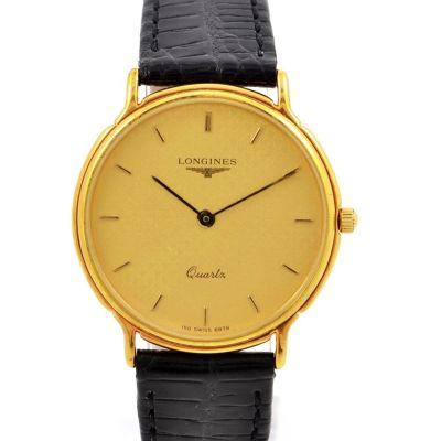 Vintage Longines Classic Gold Plated Quartz Midsize Watch
