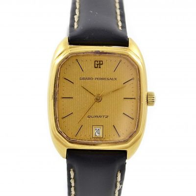 Vintage Girard Perregaux Gold Plated Quartz Ladies Watch