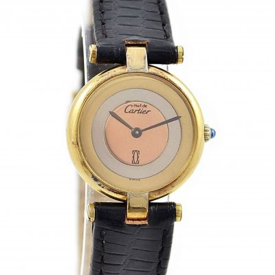 Cartier Vermeil 92.5 Silver/gold plated Quartz Ladies Watch