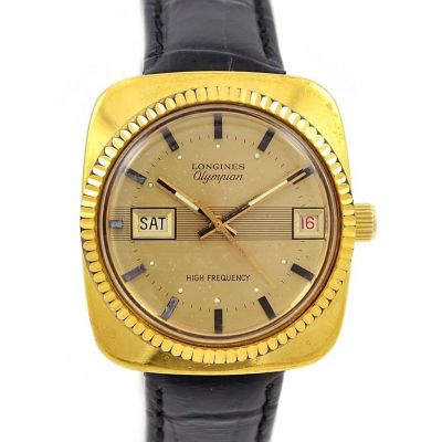 Vintage Longines Olympian High Frequency Gold Plated Automatic Mens Watch