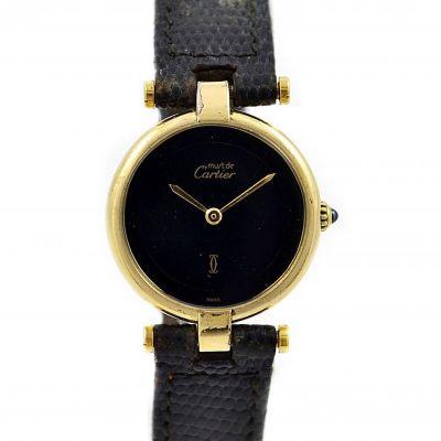 Pre-Owned and Collectible Must De Cartier Vermeil Quartz Ladies Watch