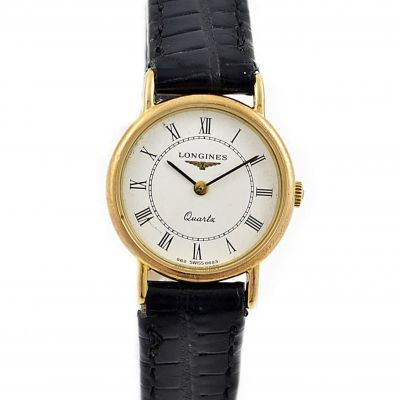 Longines Presence Gold Plated Quartz Ladies Watch