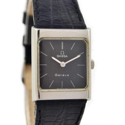 Vintage Omega Geneve Cal. 620 Hand Wind Stainless Steel Ladies Watch