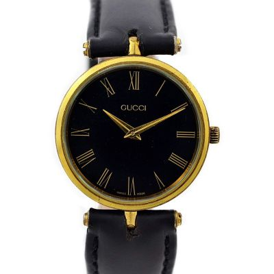 Vintage Gucci 2000M Gold Plated Quartz Midsize Watch 1990