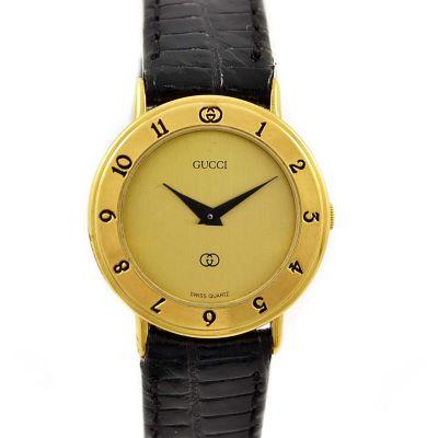 Vintage Gucci 3000L Gold Plated Ladies Quartz Watch retro