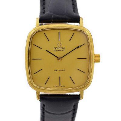 Vintage Omega De Ville Cal.1280 Quartz Gold Plated Midsize Watch mens