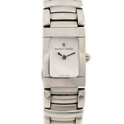 Vintage Maurice Lacroix Ladies Miros 32823 Stainless Steel Quartz Watch mother of pearl