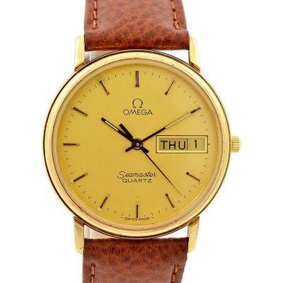 Vintage Omega Seamaster Cal.1437 Quartz Gold Plated Midsize Watch original