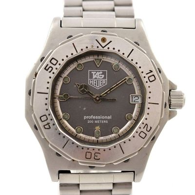 Pre-Owned and Collectible Tag Heuer 3000 Professional 200M Midsize Watch 932.213 grey