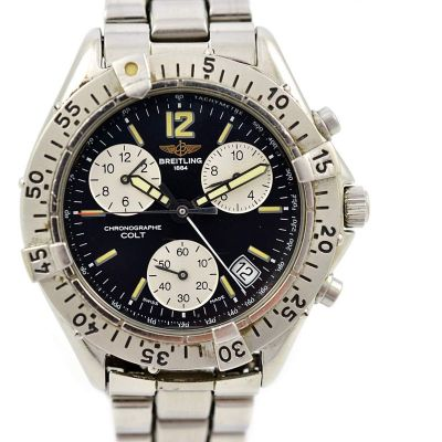 Breitling Colt Chronograph A53035 Quartz Mens Stainless Steel Watch 1990