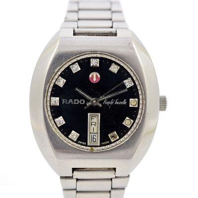 Pre-Owned Rado Purple Gazelle Day/Date Automatic Men's Watch 625.7913.4 swiss