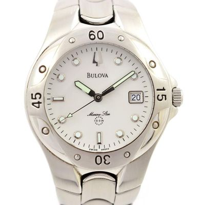 Pre-Owned Bulova Marine Star Date Quartz Men's Watch 2000