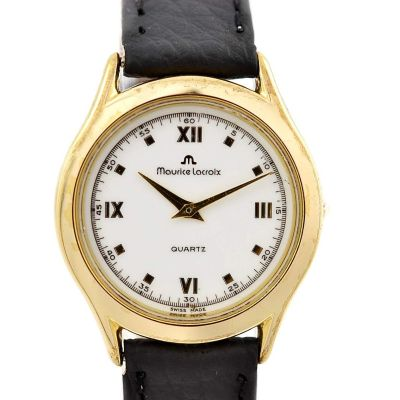 Vintage Maurice Lacroix 32175 Gold Plated Quartz Ladies Watch