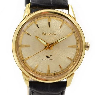 Bulova Sea Whale King Gold plated Automatic Men's Watch