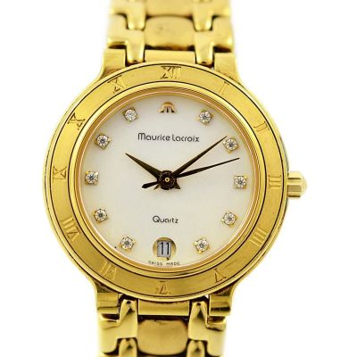 Vintage Maurice Lacroix 75416 Gold Plated Quartz Ladies Watch original