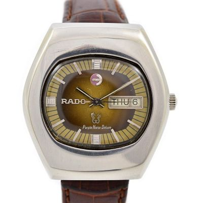 Pre-Owned Rado Purple Horse DeLuxe Day/Date Automatic Men's Watch 1970