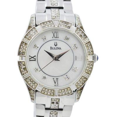 Pre-Owned Bulova Mother of Pearl Dial C8337050 Watch steel
