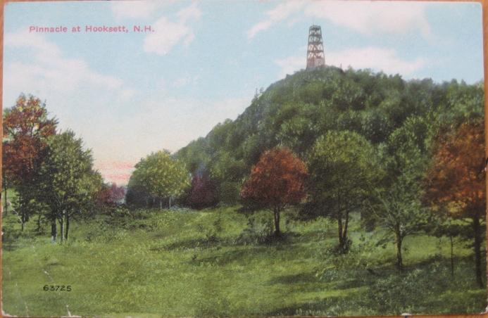 1910 Postcard: 'Pinnacle at Hooksett, New Hampshire NH'