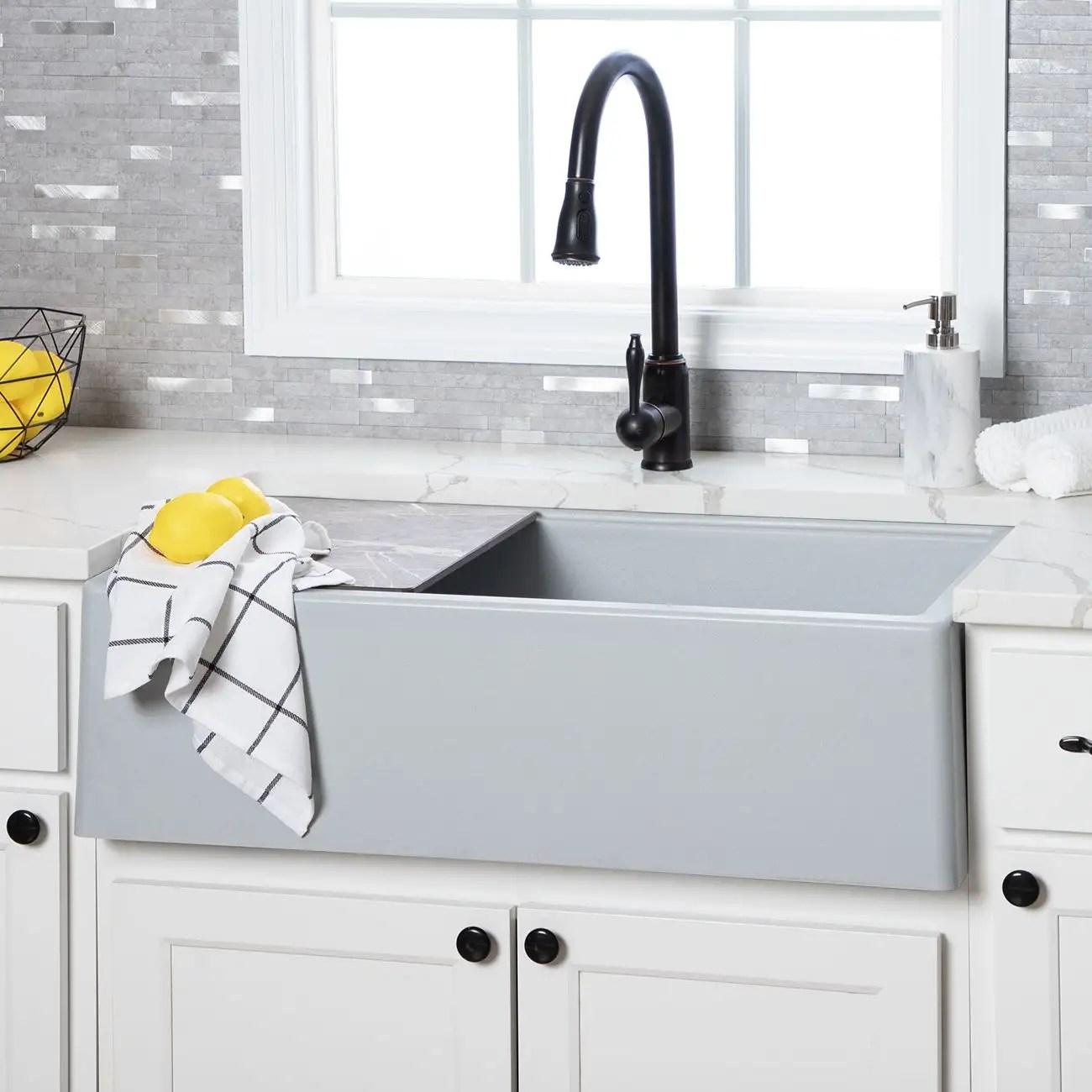 33 inch granite farmhouse sink
