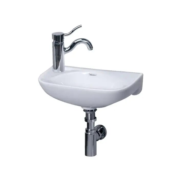 small wall mount sink left side single faucet drilling