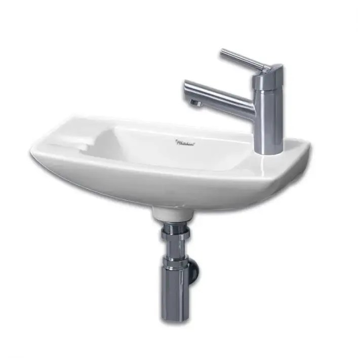 small wall mount sink right side single faucet drilling