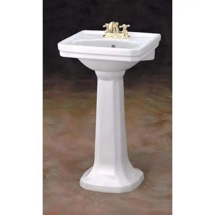 small mayfair pedestal sink lavatory