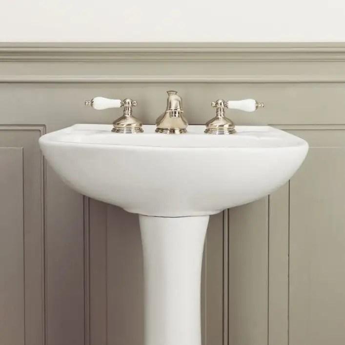 terra 21 inch pedestal sink white