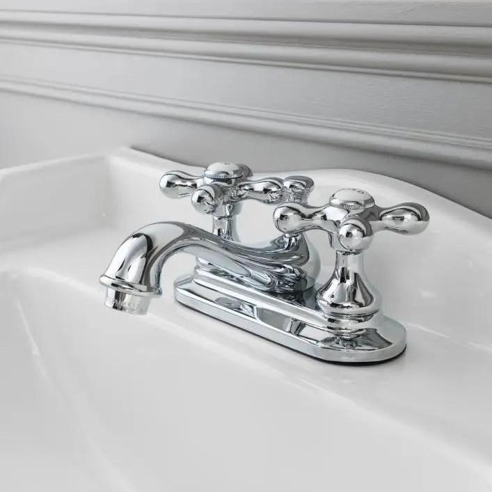 teapot centerset bathroom sink faucet metal cross handles