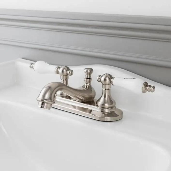 teapot centerset bathroom sink faucet porcelain lever handles