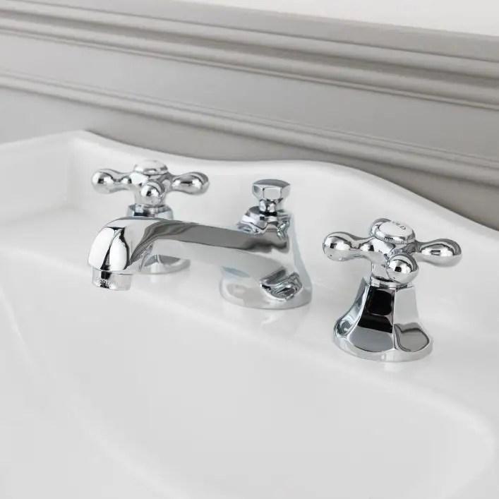 deco widespread bathroom sink faucet metal cross handles