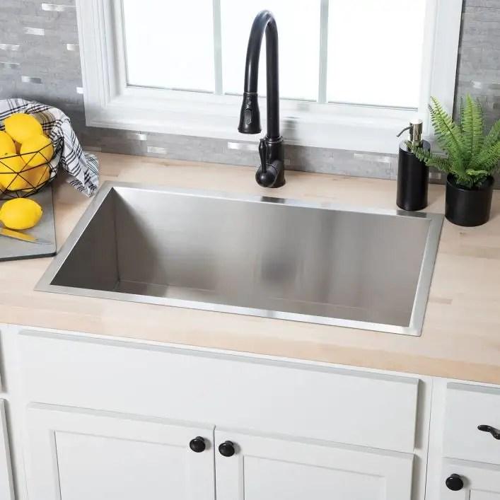 stainless steel 30 inch zero radius single bowl undermount kitchen sink stainless steel