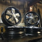 Custom Detailed Porsche Fuchs Wheels Set Chrome Black 5x130mm 15 X4 5 15 X5 5 Vintage V Dubs