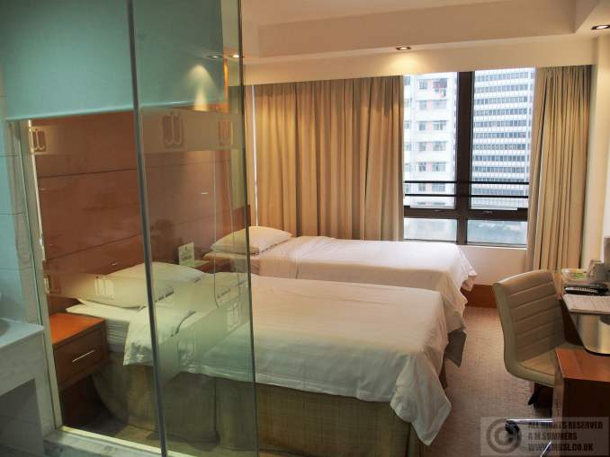 Our room at the J Residence - the space & facilities to price ratio was the best we found in Hong Kong