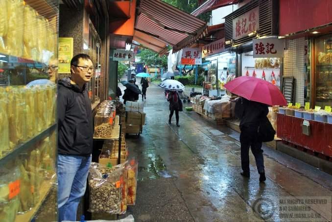 Rainy street in Sheung Wan