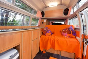 Vintage VW Campers Lola interior day mode